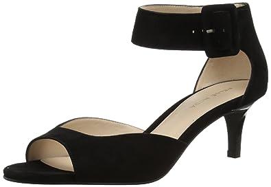 Pelle Moda Berlin Metallic Leather Ankle Strap Kitten-Heel Dress Sandals kS6rlOOG