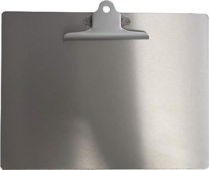 CLAM Portablocco con molla fermafogli formato A4 orizzontale.