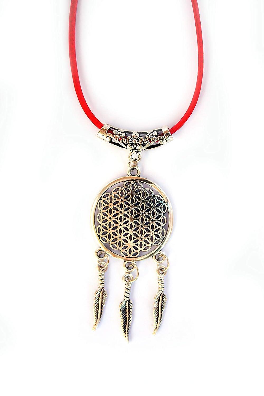 collar atrapasue/ños Joyas curativas Colgante con el s/ímbolo del atrapasue/ños Sue/ño lohas Amuleto Talism/án Estilo Boho chic