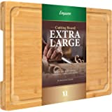 """Extra Large Cutting Board, 17.6"""" Bamboo Cutting Boards for Kitchen with Juice Groove and Handles Kitchen Chopping Board for M"""
