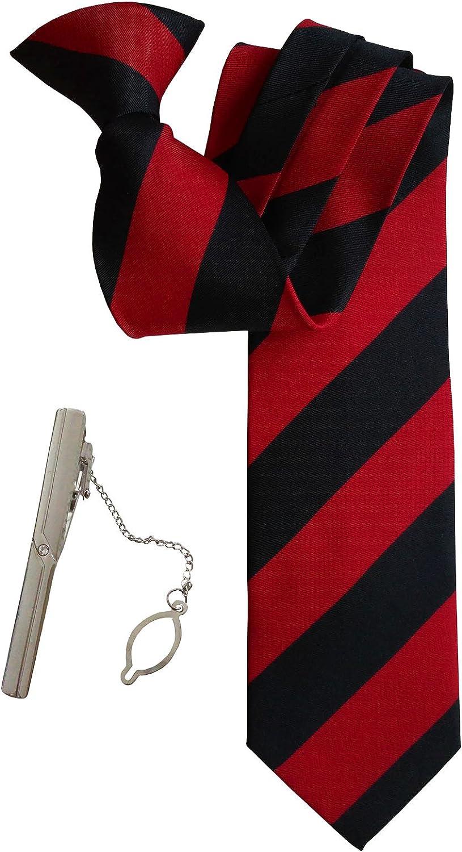 Simpowe Mens Clip On Tie with Tie Clip