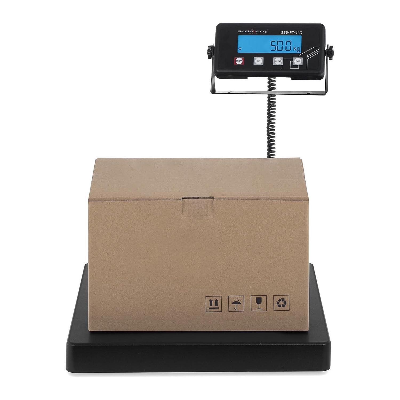 Steinberg Systems Pese Colis Balance de Poste Digitale Pese Paquet SBS-PT-150C (125 kg / 20 g, Surface du Socle Porteur 40 x 40 cm, Écran LCD, Extinction Automatique)