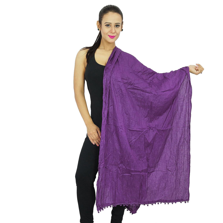 Indian Chunni Mode Dupatta Baumwoll-Mischung lange Stola Frauen-Schals der modernen Kleidung NDP318C