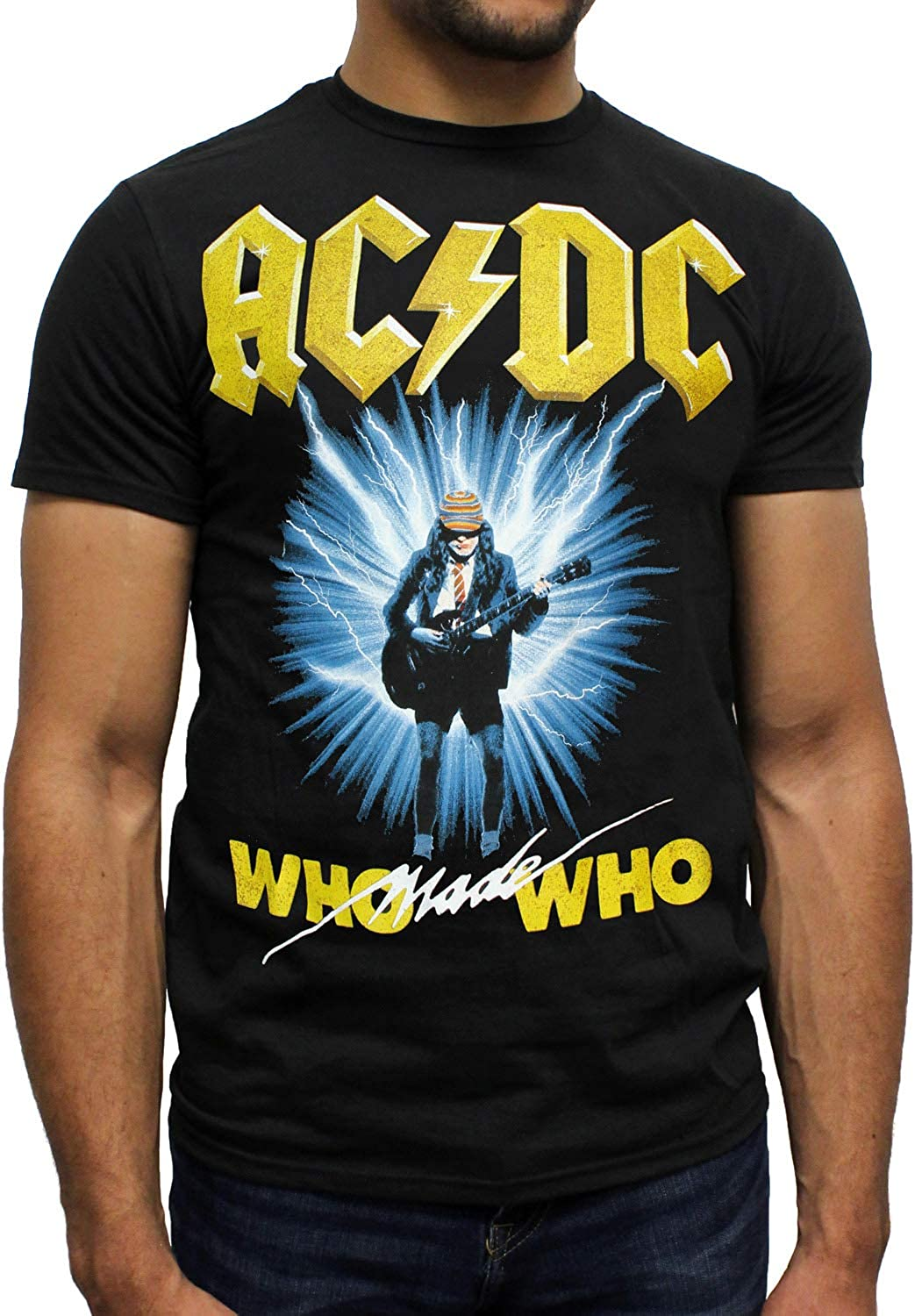 About to Rock T-shirt 100/% Official Merchandise AC//DC Unisexe Tee