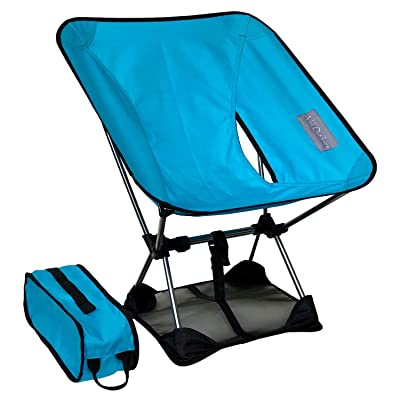 Adak Outdoors Backpacking Chair Ultralight - with Mat (Prevents Chair from Sinking in Soft Ground), Portable, Foldable, Camping, Beach, Picnic, Hiking Chair, Carry Bag: Kitchen & Dining