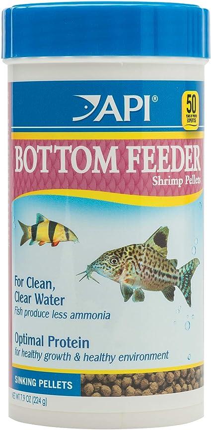 API Alimentador Inferior de camarones pellets de Pescado contenedor de Alimentos, 232 g