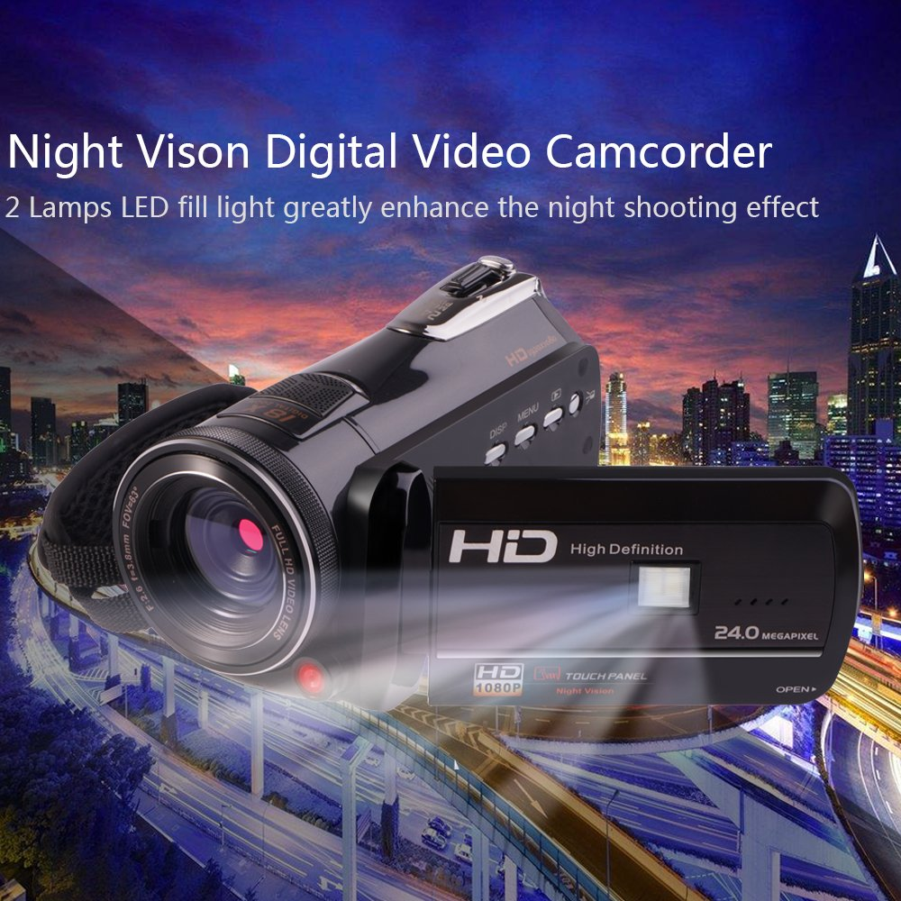 Camcorders, Full HD 1080P 30FPS Wifi Camcorder DVR Handy Video Camera Recorder with Infrared Night Vision, 3'' Touchscreen, IR Remote Control, 18X Digital Zoom and 72mm Ultra HD Wide Angle Lens by LAKASARA (Image #8)