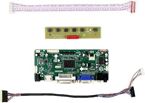 40pin HDMI DVI VGA LCD LED Controller Board DIY for B156XTT01.0 1366X768 panel
