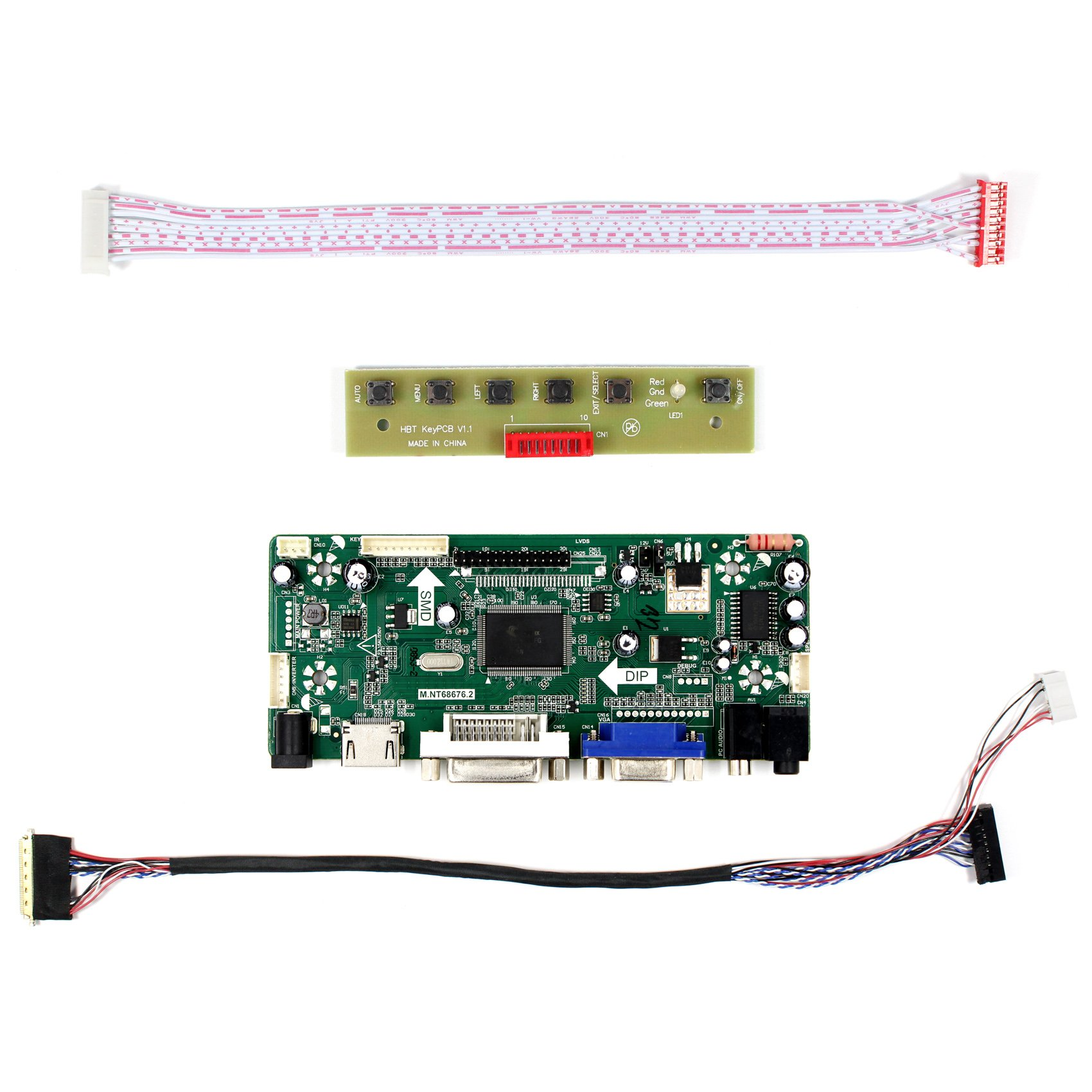 HDMI+VGA+DVI+Audio Input LCD Controller Board For LP156WH2 LP156WH4 15.6'' 1366x768 LED Backlight 40Pins LCD Panel by LCDBOARD (Image #2)