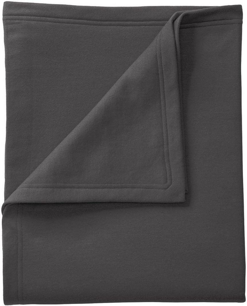 Port /& Company Core Fleece Sweatshirt Blanket OSFA Jet Black