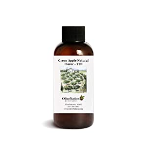 OliveNation Green Apple Natural Flavor Extract, TTB-Approved for Brewing, Non-GMO, Gluten Free, Kosher, Vegan - 32 ounces