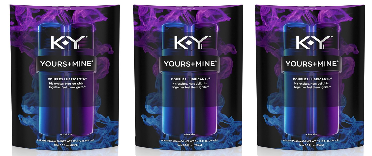K-Y Yours and Mine Couples Lubricant vWldX - 3 Oz (3 Pack) by Multiple