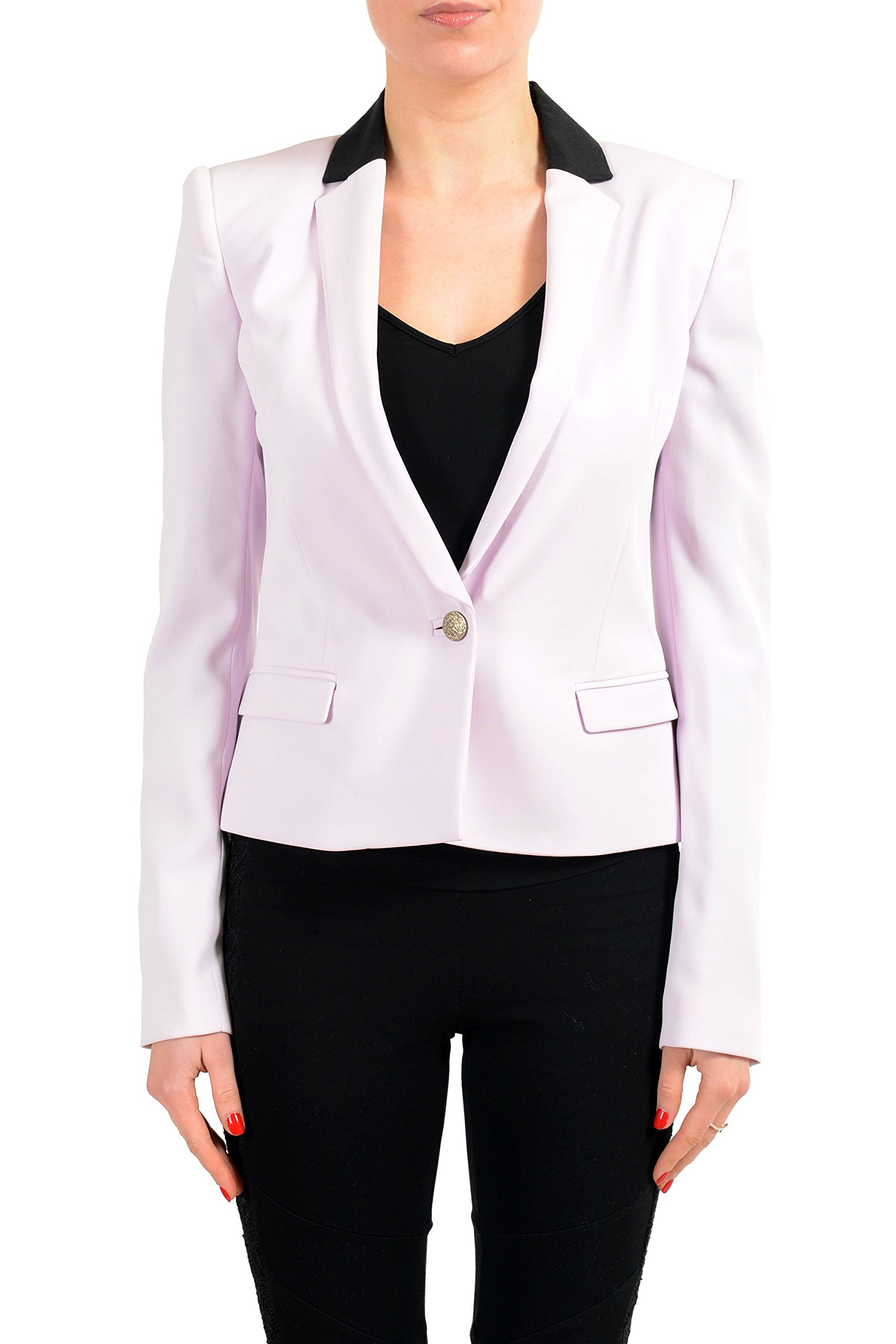 Just Cavalli Purple One Button Women's Blazer US 2XL IT 48