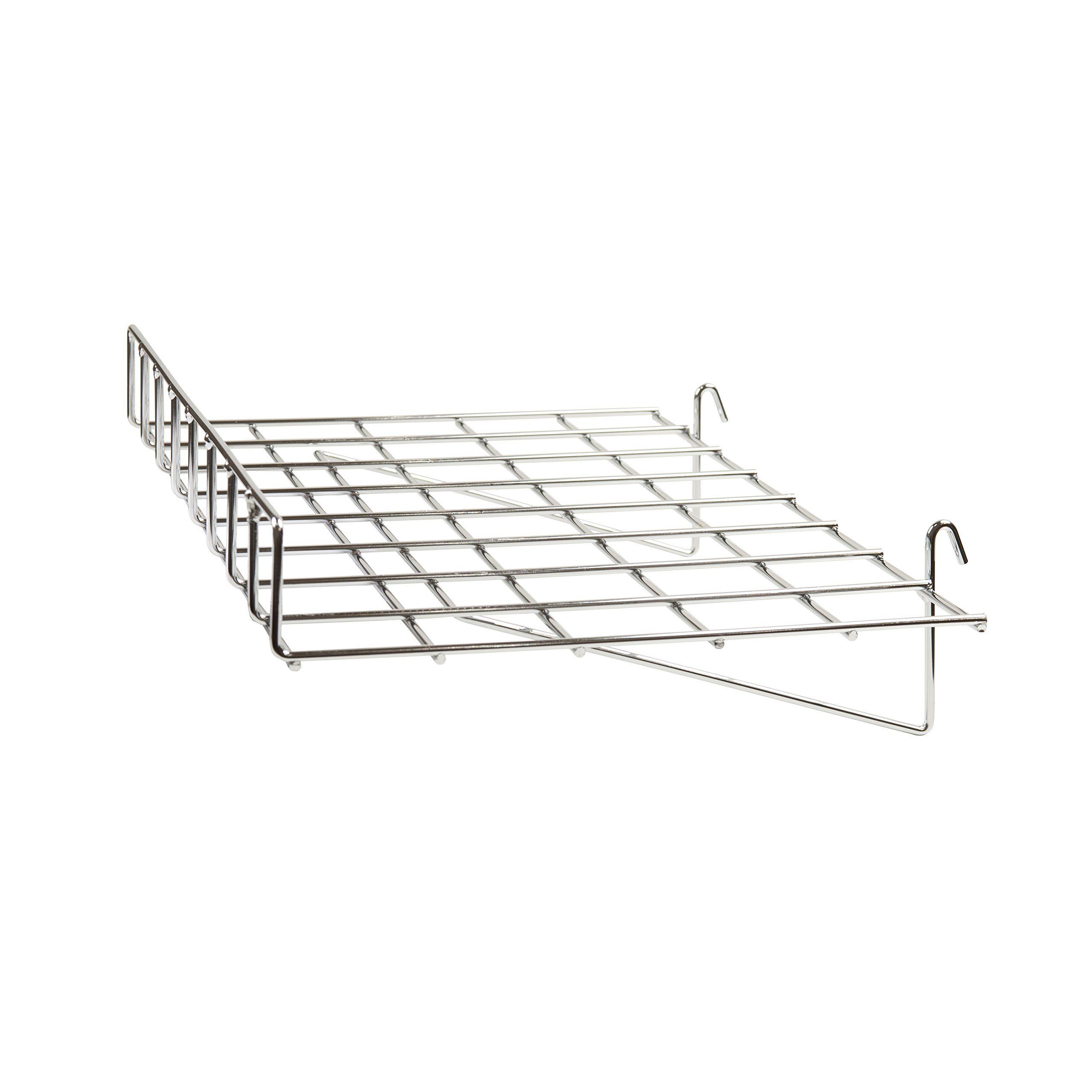 Econoco GWS/93 Straight Shelf with Front Lip, 24'' Length x 15'' Depth (Pack of 4)