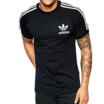adidas California Short Sleeved T-Shirt, Men's, California Tee, black, Small