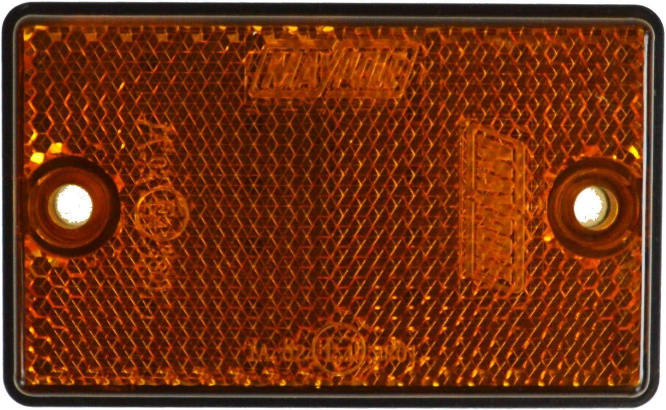 BITS4REASONS MAYPOLE Sicherheits-Reflektor-Set f/ür Wohnwagen Pferdeanh/änger selbstklebendes Set und Option f/ür Schrauben an allen Einheiten hergestellt in England