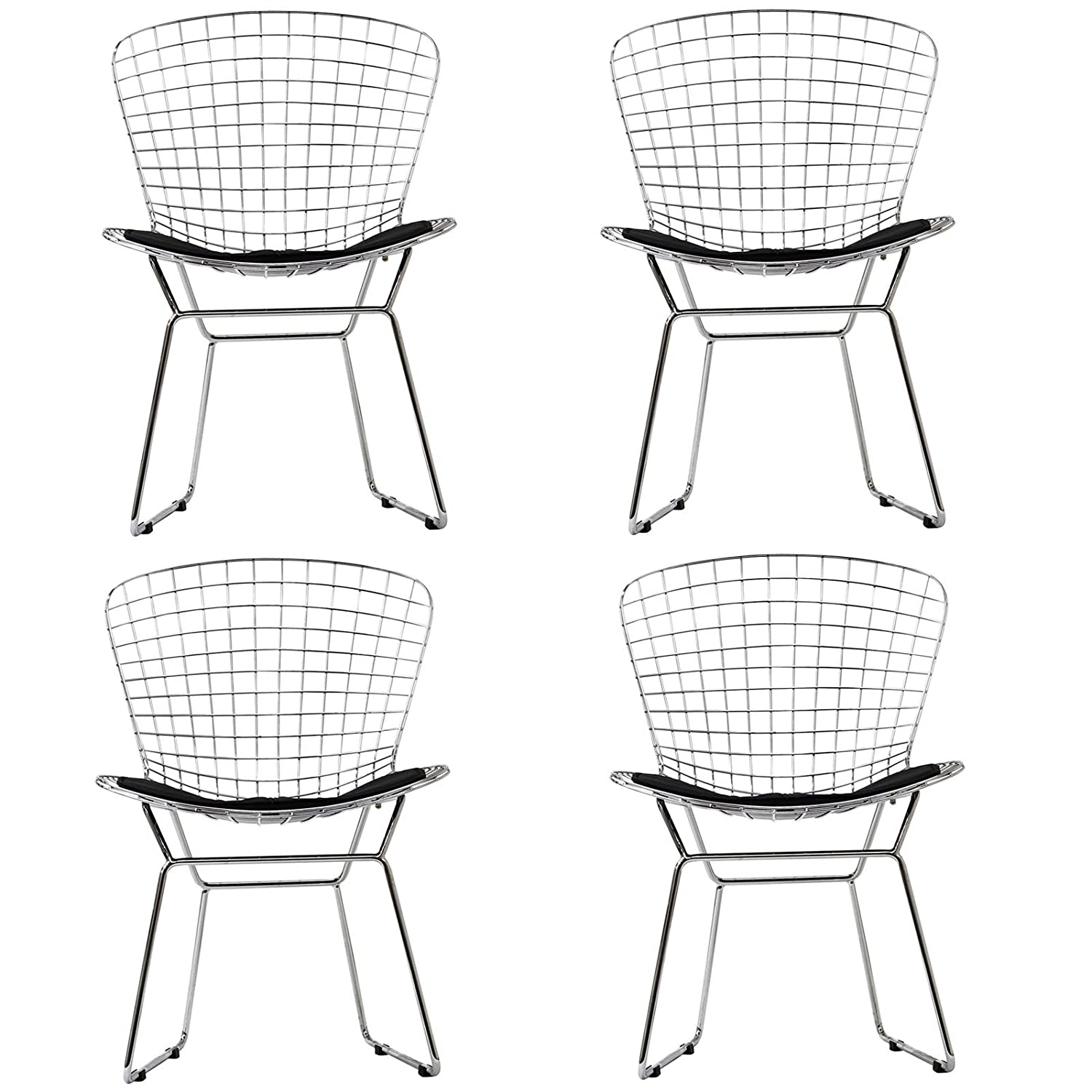 Amazon Modway CAD Dining Chairs Set of 4 in Black Chairs