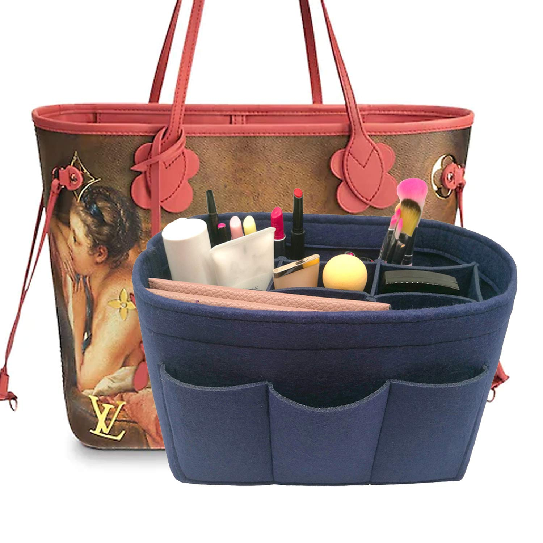 LEXSION Felt Handbag Organizer,Insert purse organizer Fits Speedy Neverfull Blue M