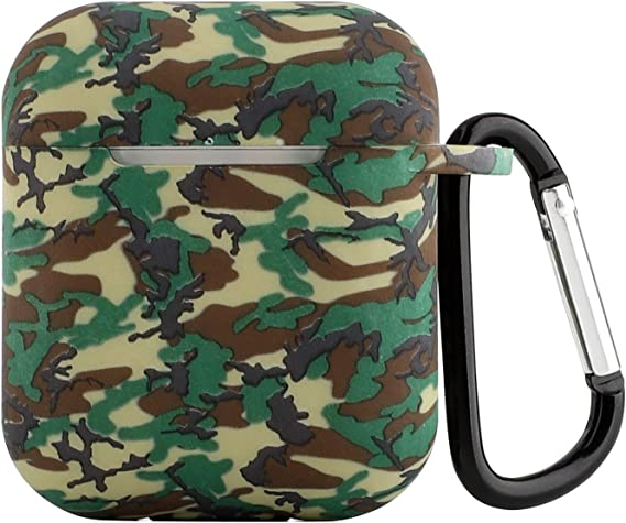 Seadream Compatible with AirPods Protective Case Silicone Camouflage Shock Proof Protective Cover Skin with Sport Carabiner amp Dustproof Plug Compati at Kapruka Online for specialGifts