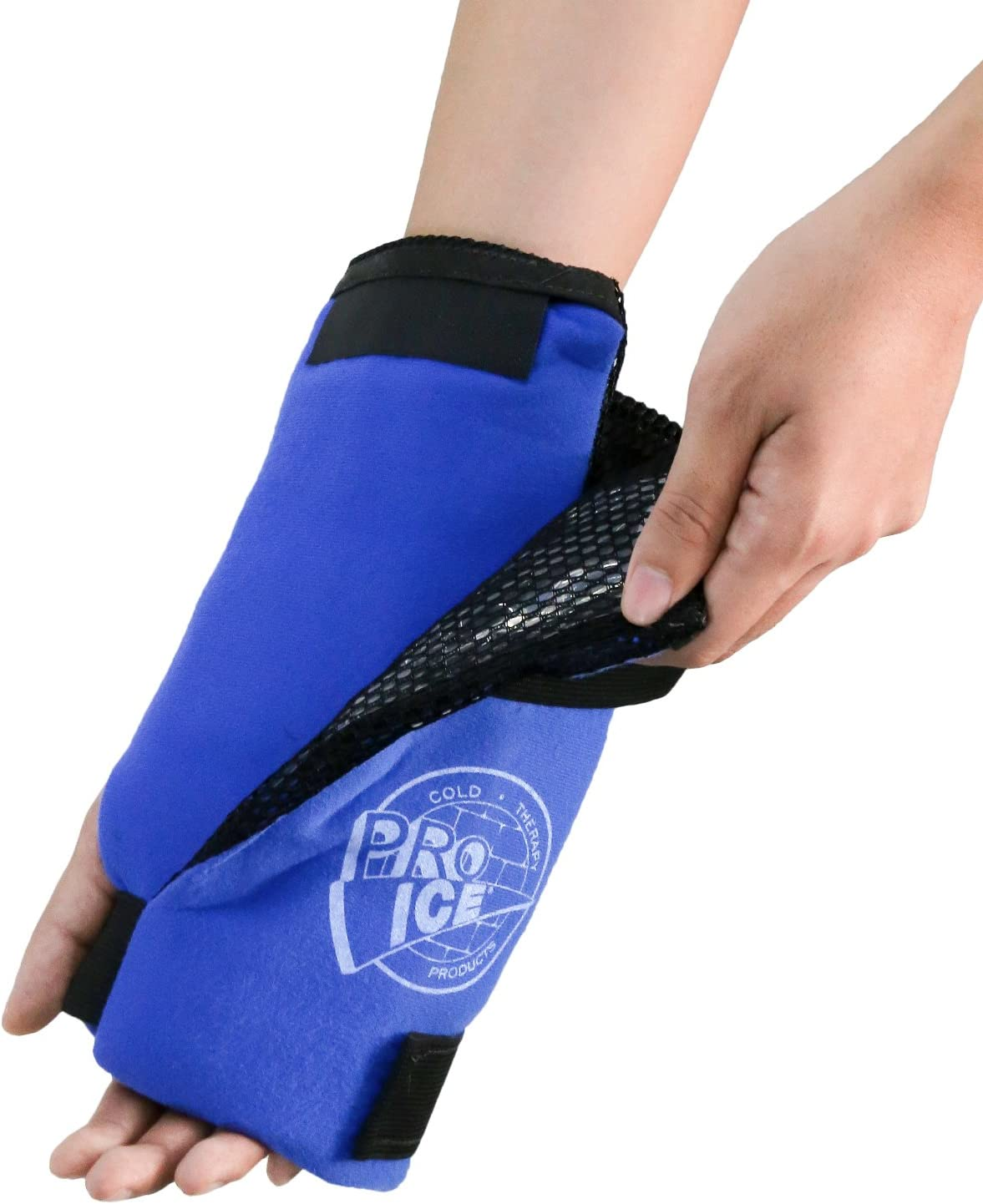 Pro Ice Wrist Ice Pack Wrap with Compression for Carpal Tunnel Pain, Arthritis, Tendonitis, Hand Injuries PI300