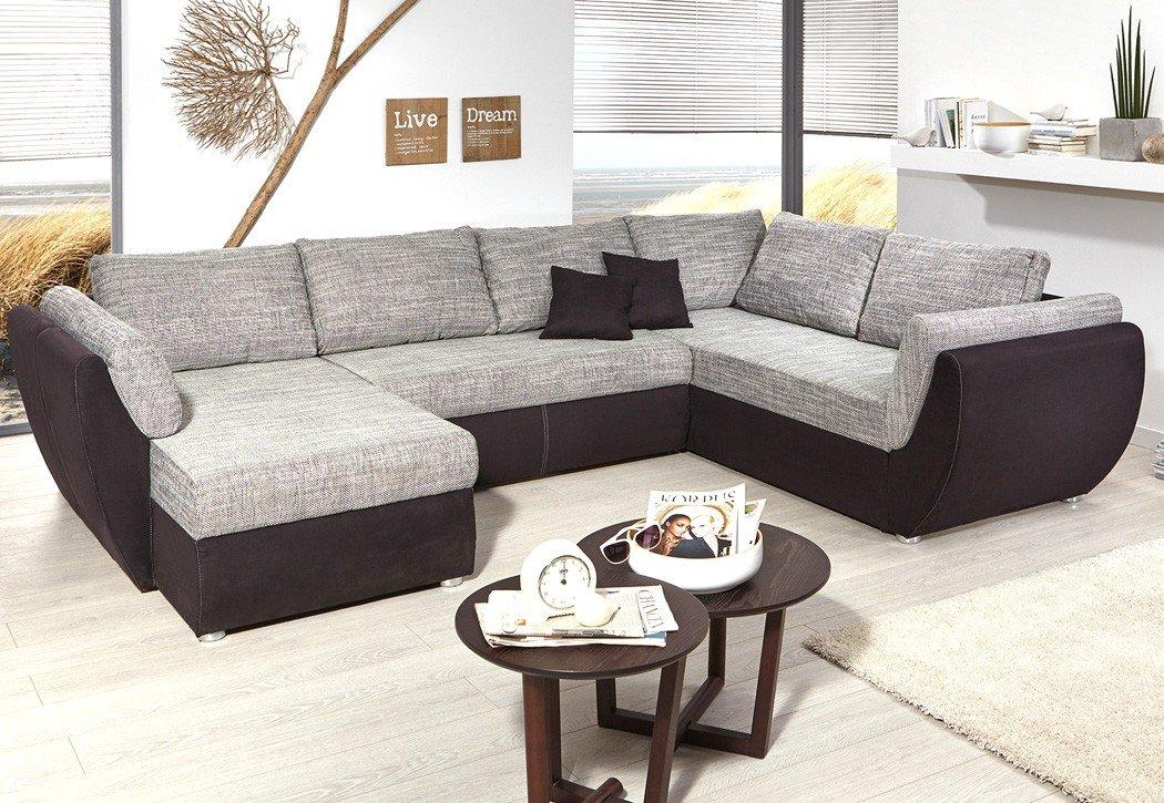 Wohnlandschaft Ontario 326x231 cm Mikrofaser grau schwarz Sofa U Form Funktionssofa Schlafsofa Couch Ottomane