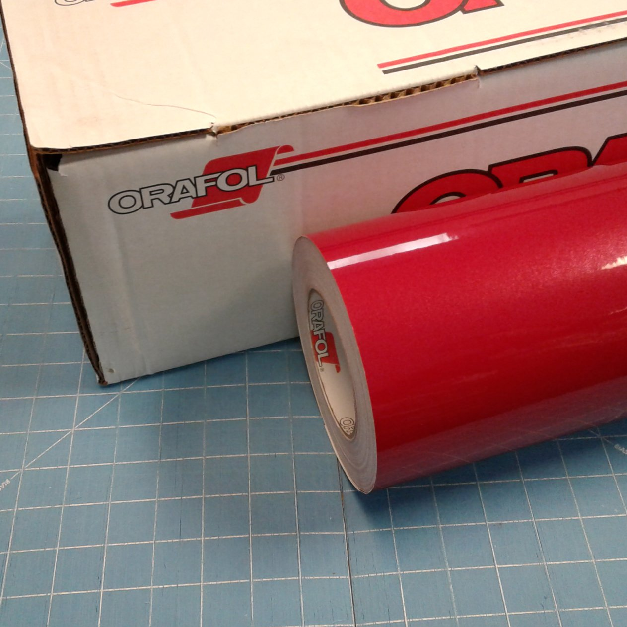 Red 24'' x 30 Ft Roll of Oracal 951 Premium Metallic Vinyl for Craft Cutters and Vinyl Sign Cutters