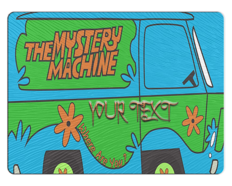BRGiftShop Personalized Custom The Mystery Machine Van 11x15 Glass Cutting Board