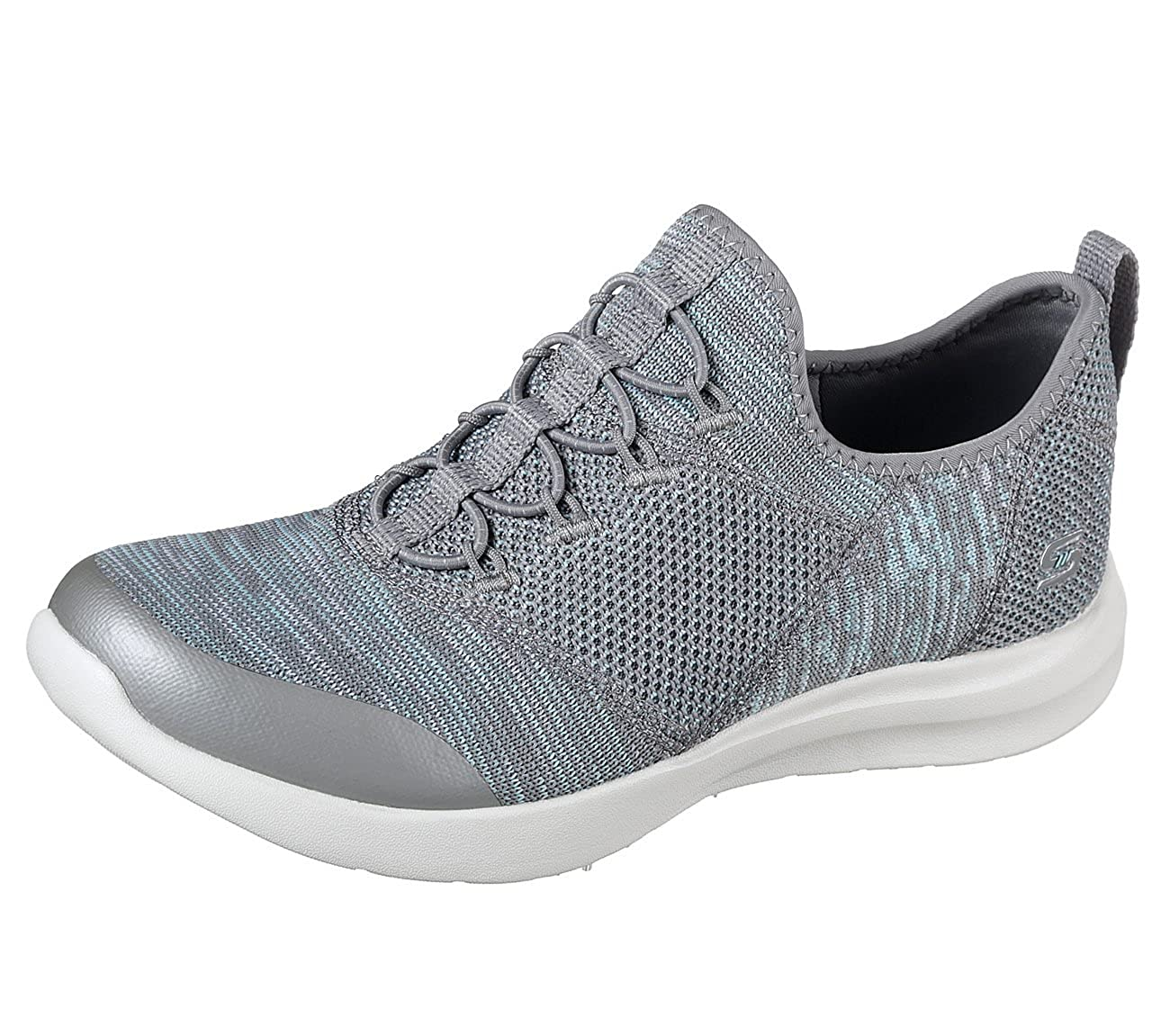 Skechers Ladies Mix & Match Gray/Mint Gray/Mint Match Slip on Memory Foam Schuhes 12880/GYMN-UK 3 (EU 36) - 9ec2c5