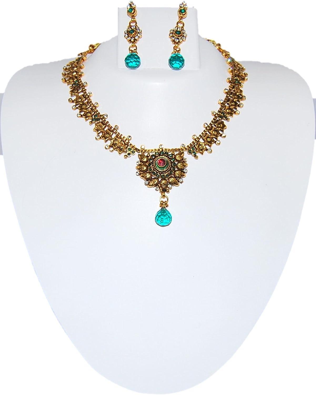 AZIN1GN012-GBL Arras Creations Exclusive One Gram Gold Necklace Set