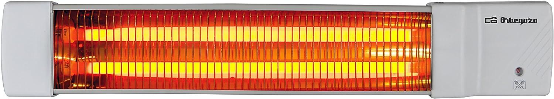 Orbegozo BB5002 Estufa de Cuarzo de Baño, 1200 W, Gris