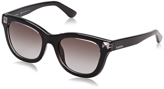 Womens Eye Sunglasses, Black (Nero/Grigio), 52 Valentino