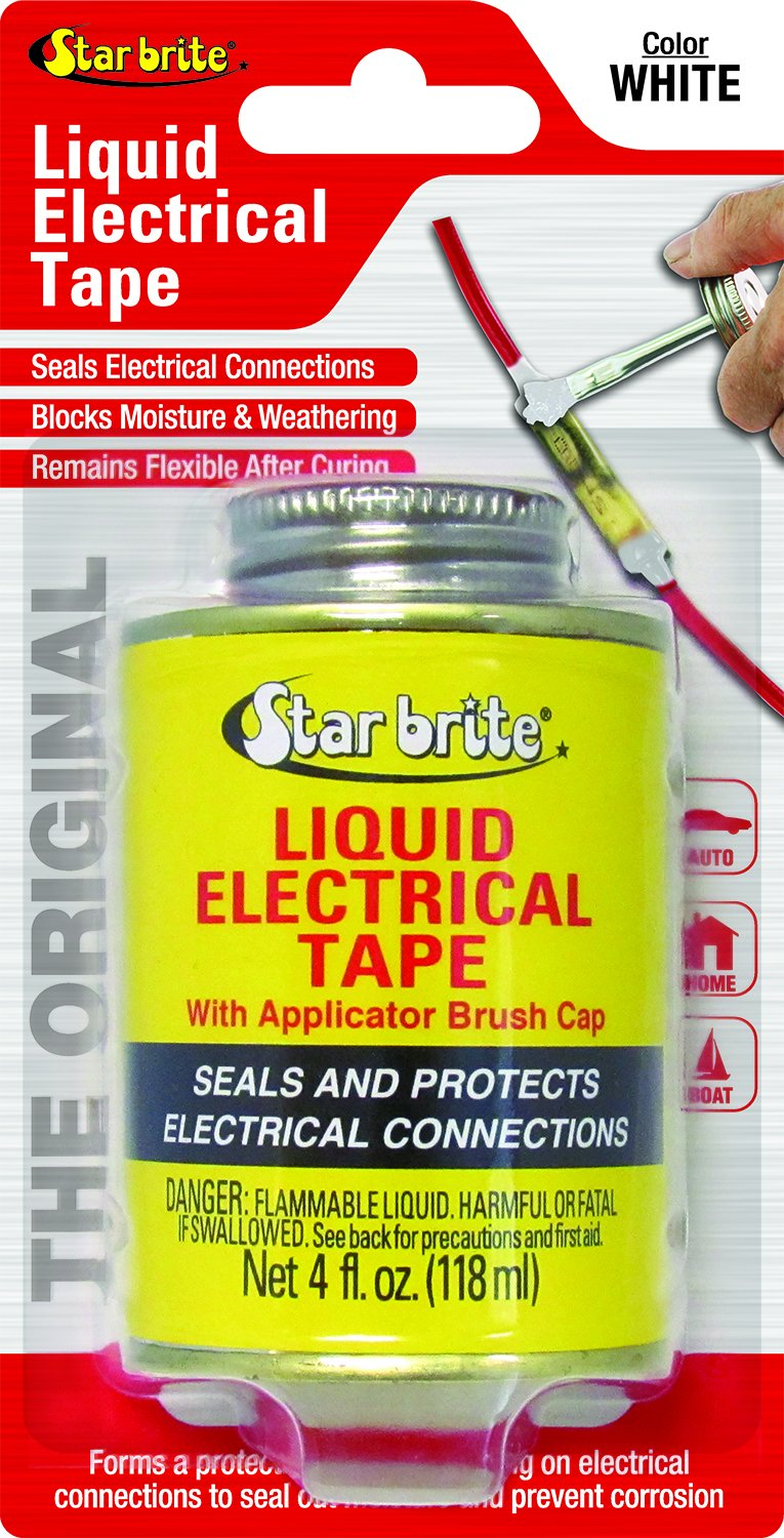 Star brite Liquid Electrical Tape - 4 oz Can with Brush Applicator by Star Brite