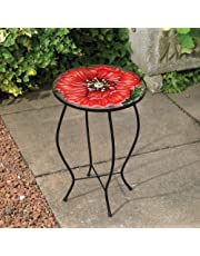Kingfisher Glass Poppy Side Table Outdoor Garden Furniture