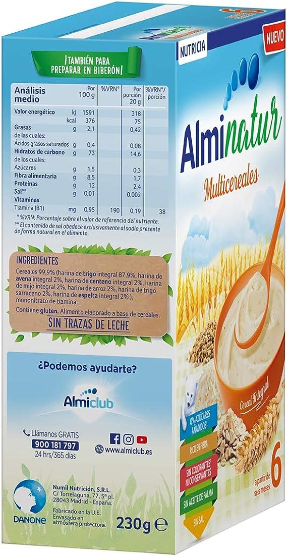 Alminatur Papilla de Multicereales a Partir de Los 6 Meses - 230 g: Amazon.es: Alimentación y bebidas