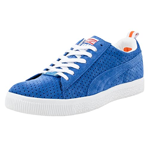 PUMA X Undefeated Clyde Gametime NY Knicks Olympian White Orange 354271 04  SZ 13  Amazon.ca  Shoes   Handbags 07ff5a518
