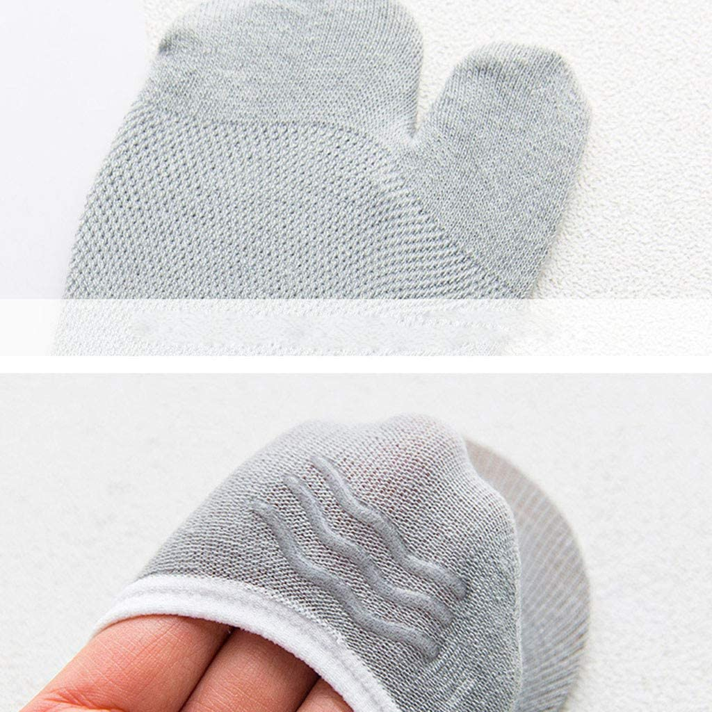 Ankle Toe Socks Women Funny Two Fingers Low Cut Toe Socks Cotton Comfy Wear Resistant Invisible Sock Novelty Non Slip Wicking Cushioned Athletic Socks