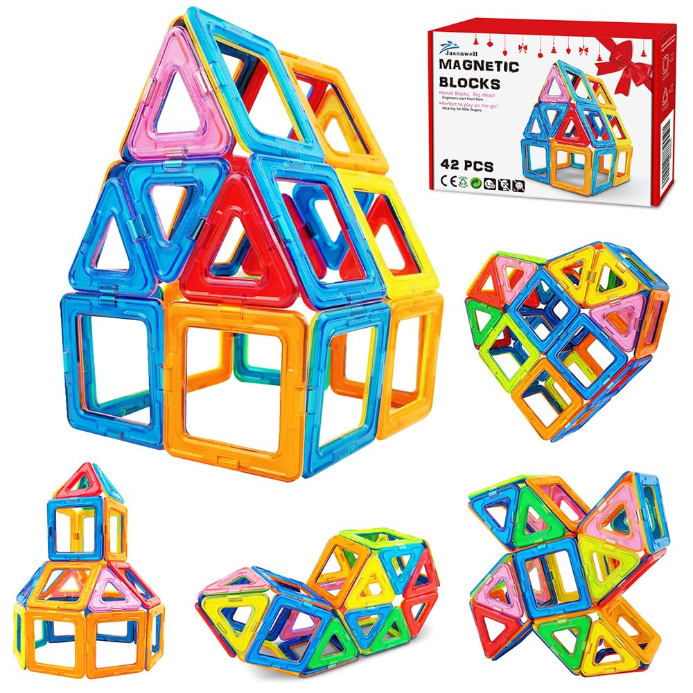 100PCS Magnetic Toy Building Blocks Set 3D Tiles Great Gift DIY Toys For Kids
