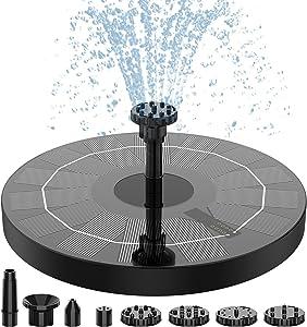 AISITIN Solar Fountain Pump,2.5w 6.3