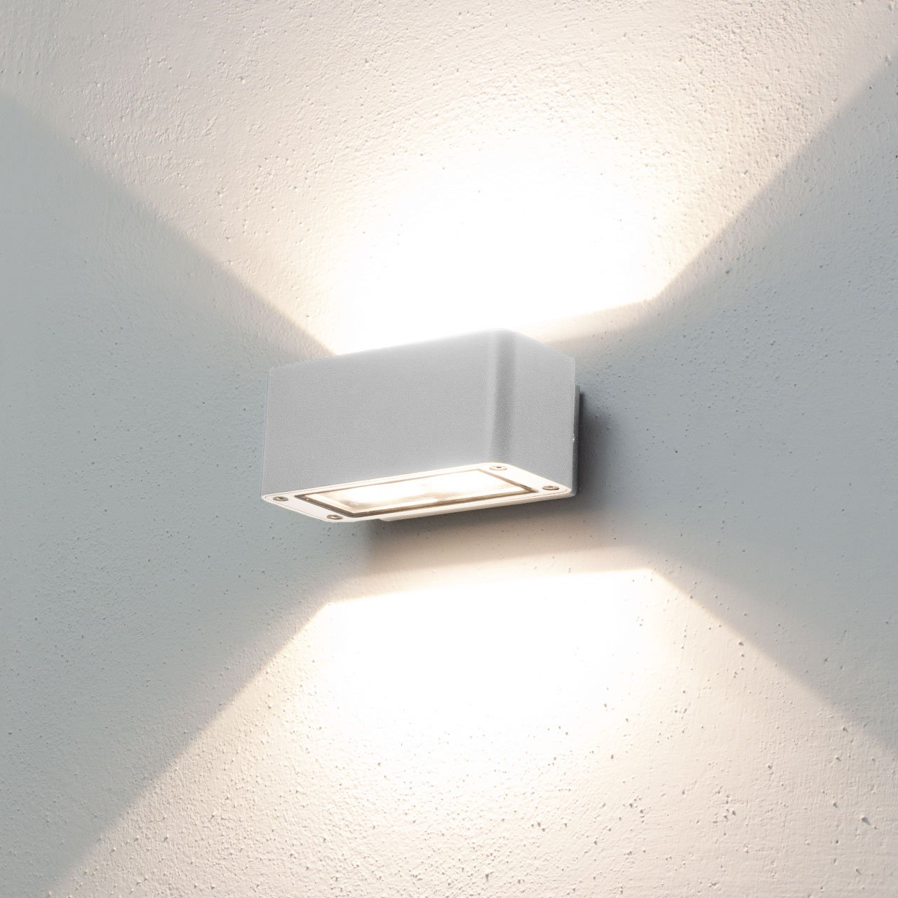 Lampada da parete, applique LED bianco caldo, 12W, colore bianco ...