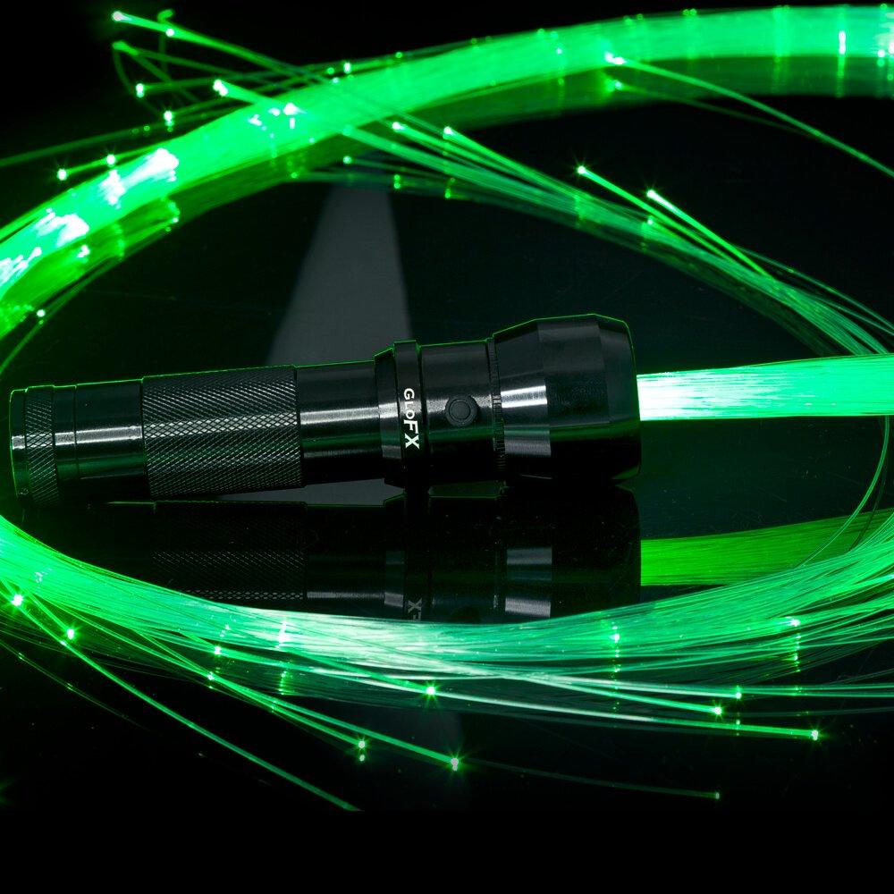 GloFX Space Whip Pro [PROGRAMMABLE LED Fiber Optic Whip] 6 Ft 360° Swivel - Super Bright Light Up Rave Toy | EDM Pixel Flow Lace Dance Festival by GloFX (Image #1)