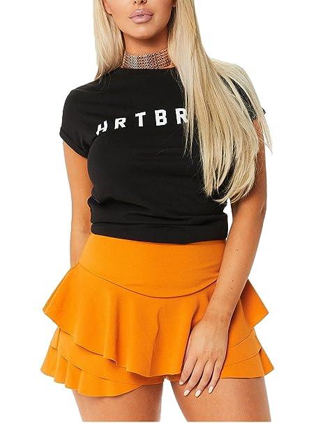 909b62a81 sexyshine Mujer Verano Moda volantes plisado Skorts Basic Mini falda ...