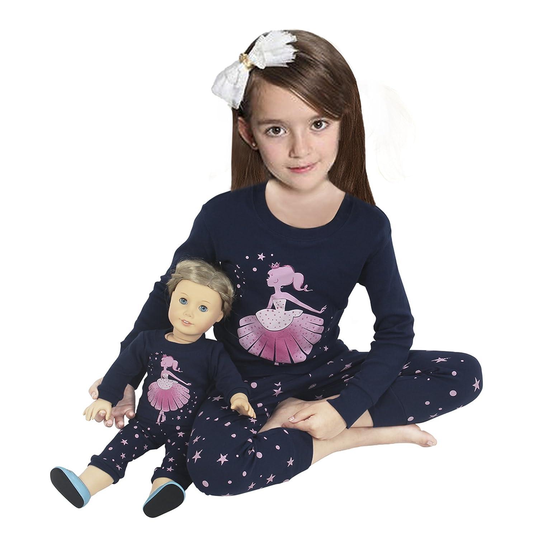 Amazon Girls Matching Doll&Toddler Giraffe 4 Piece Cotton