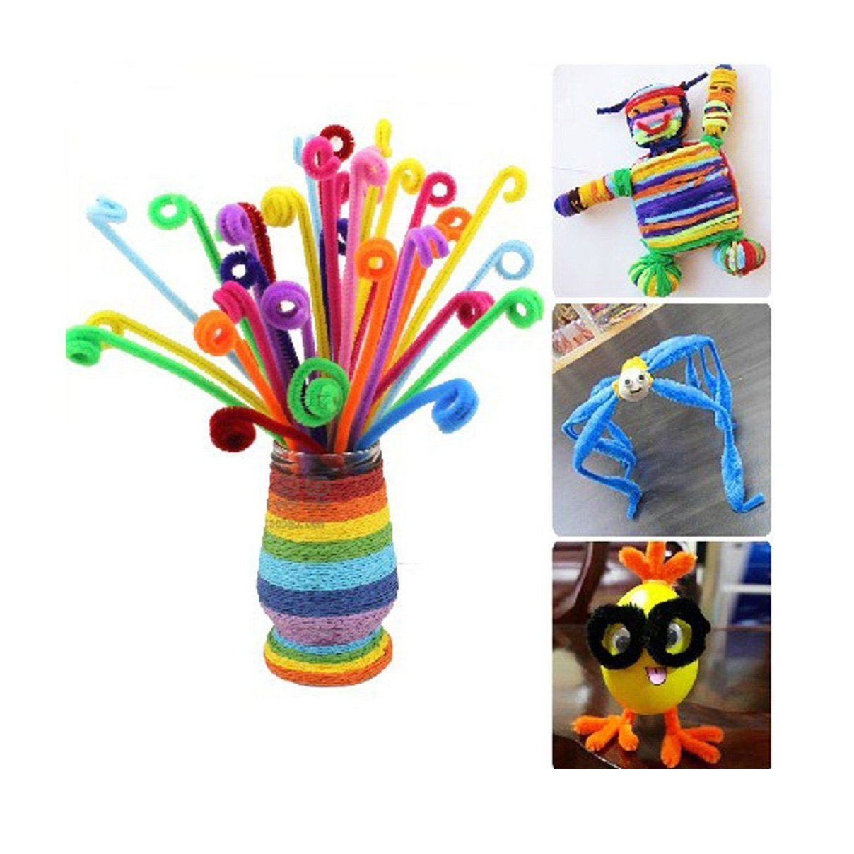 Saim Rose Red Colored Pipe Cleaners Chenille Stems 12 for Creative Handmade Arts and Crafts 500 PCS G1ZW0171115