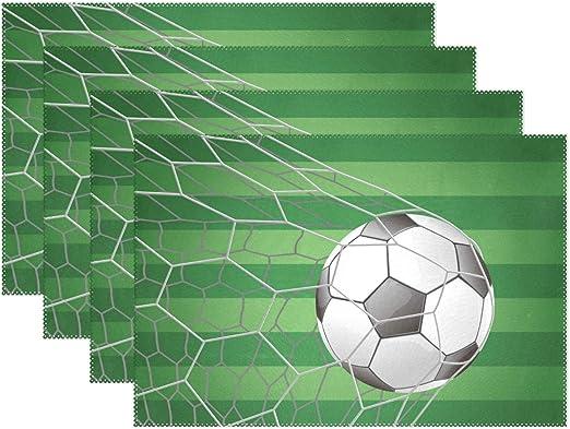 COOSUN Balón de fútbol en Campo de Hierba Objetivo con manteles ...