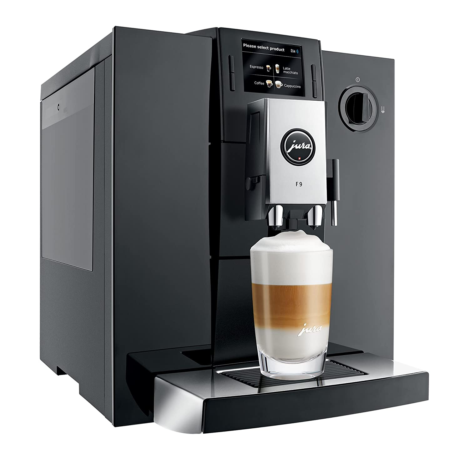 JURA 15127 F9 Automatic Bean-to-Cup Coffee Machine, Piano Black:  Amazon.co.uk: Kitchen & Home