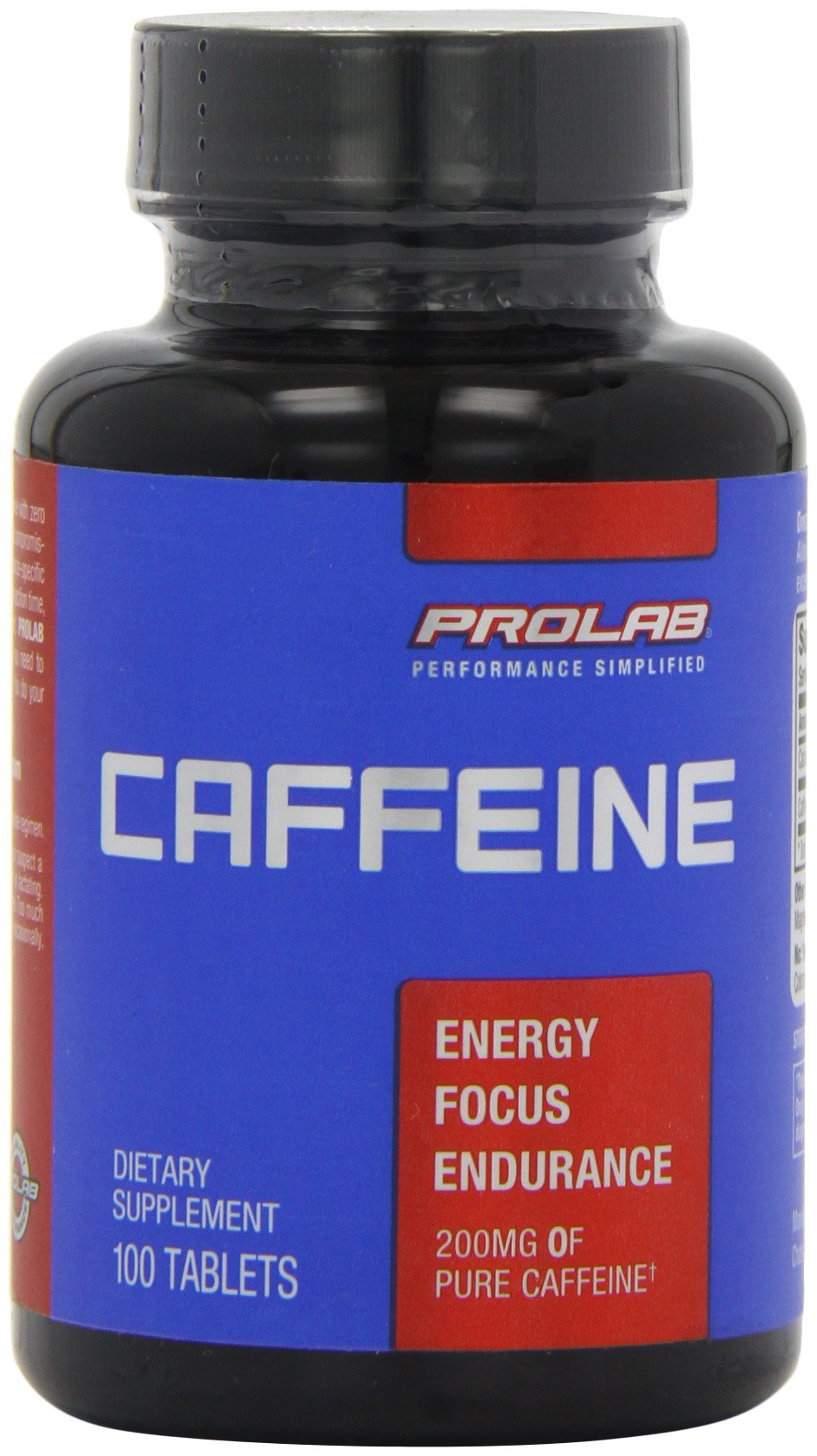 ProLab Caffeine Maximum Potency 200mg Tablets, 100-Count