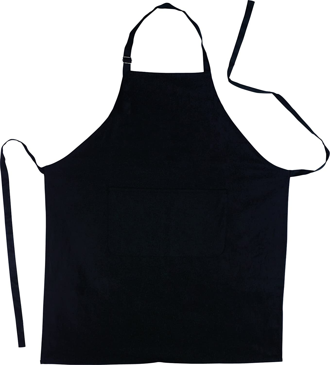 eBuyGB Apron with Front Pocket, Cotton, Black, Full 12005