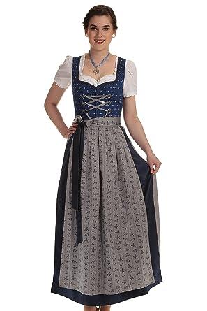 d5373f128a Turi Landhaus Damen Dirndl lang Dirndl blau Trachtenkleid Damen lang ...