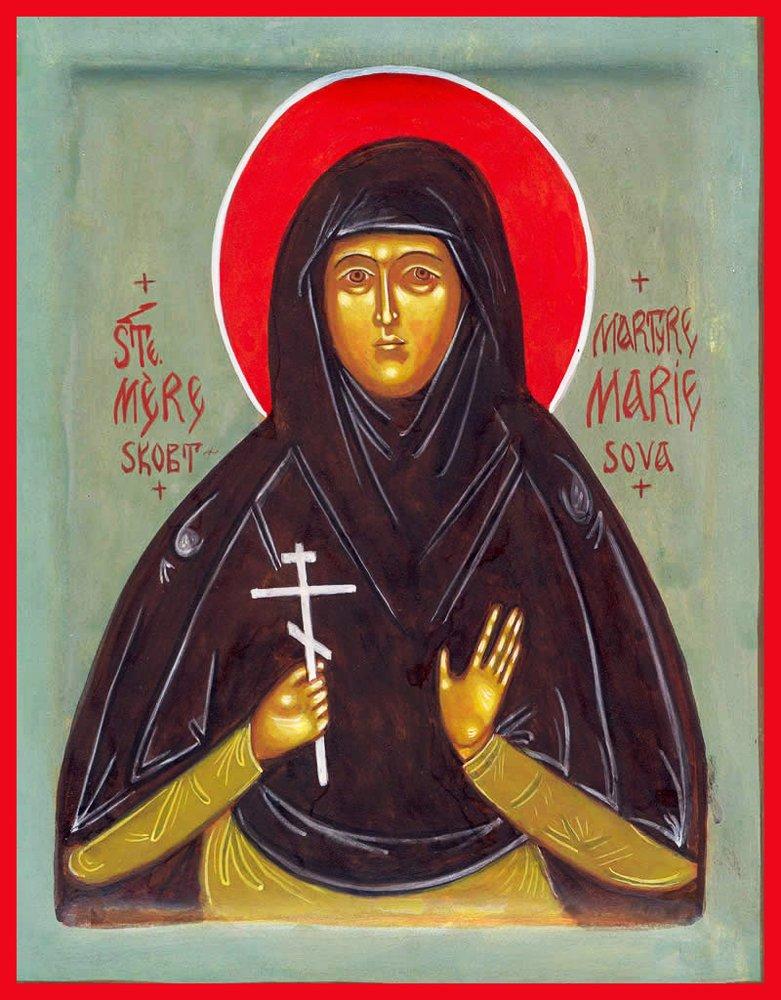 St. Maria Skobtsova Traditional Panel Russian Orthodox icon by Orthodox Christian Supply