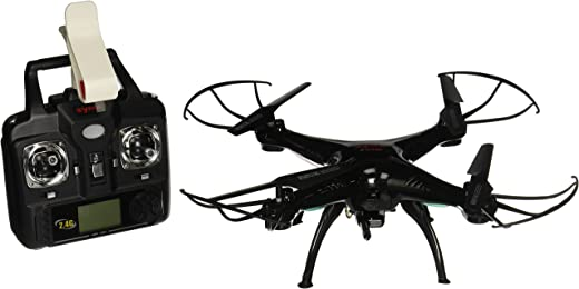 Syma X5SW 4CH 2.4G 6-Axis Gyro Headless 0.3MP Camera 360-degree 3D Rolling Mode 2 RTF RC Quadcopter, Black